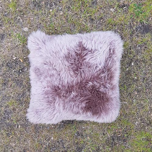 Sheppskin Brown leather cushion '. ALM 02B