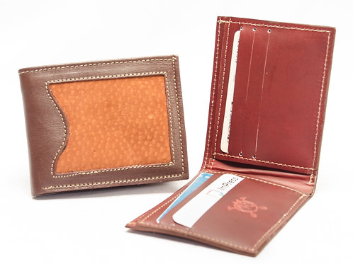 Wallet man in capybara leather double card holder. BILL 50