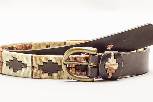 Kids belt Embroidered Polo Full Brown. CIN 04