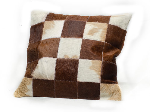 Cowhide leather cushion . ALM 01.