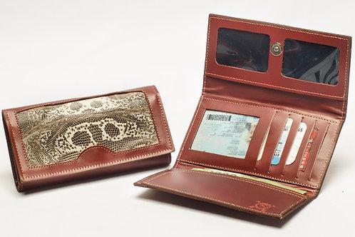 "Ladies""Iguana"" wallet, tri-folder design . BILL 64."