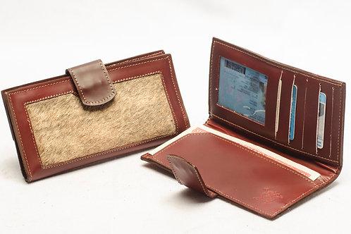 "Ladies"" Cowhide"" wallet, double-folder design . BILL 67."