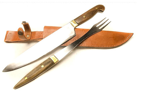 Giant' knife and fork set with wood handle. CUCH 59.