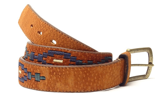 Capybara diamond-shape embroidered belt. CIN 36