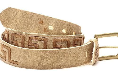 """""""Caminito"""" Embroidered rawhide polo belt. . CIN 14"""