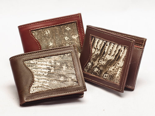 """Men's wallet """"Iguana"""", with double card holder. BILL 57."""