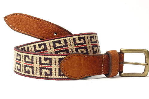 """Pampa "" Capybara leather belt . CIN 34"