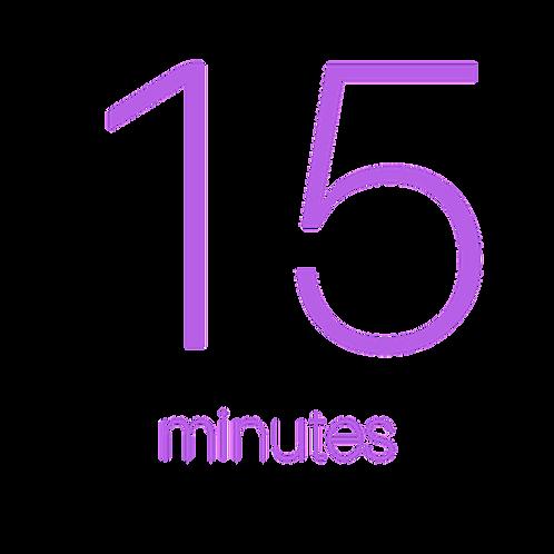15 Minute Individual Consultation