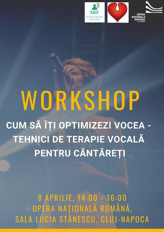 Workshop de terapie vocala pentru cintaretii profesionisti