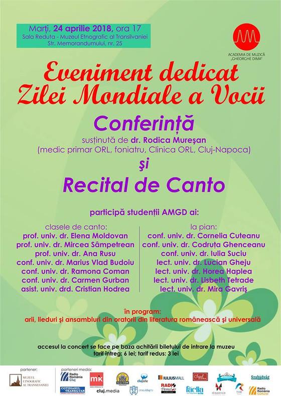 "Concert dedicat ""Zilei internaționale a Vocii"""