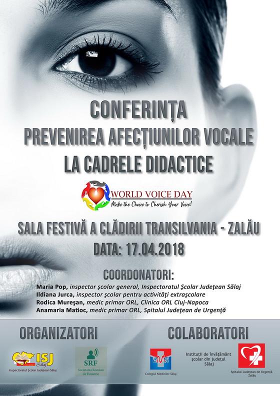 """Simpozion """"Prevenirea afecţiunilor vocale la cadrele didactice"""""""