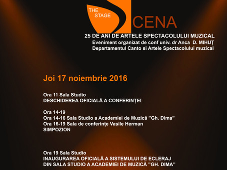 """Conferinta Nationala cu participare internationala """"SCENA"""""""