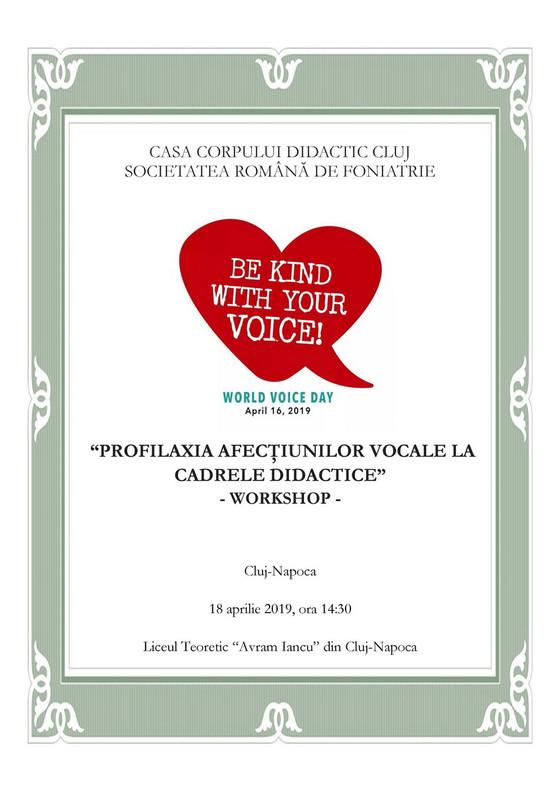 Workshop dedicat cadrelor didactice - Cluj-Napoca