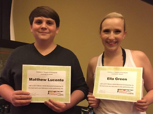 CTA AWARDS SCHOLARSHIPS TO TWO LOCAL YOUTH PERFORMERS