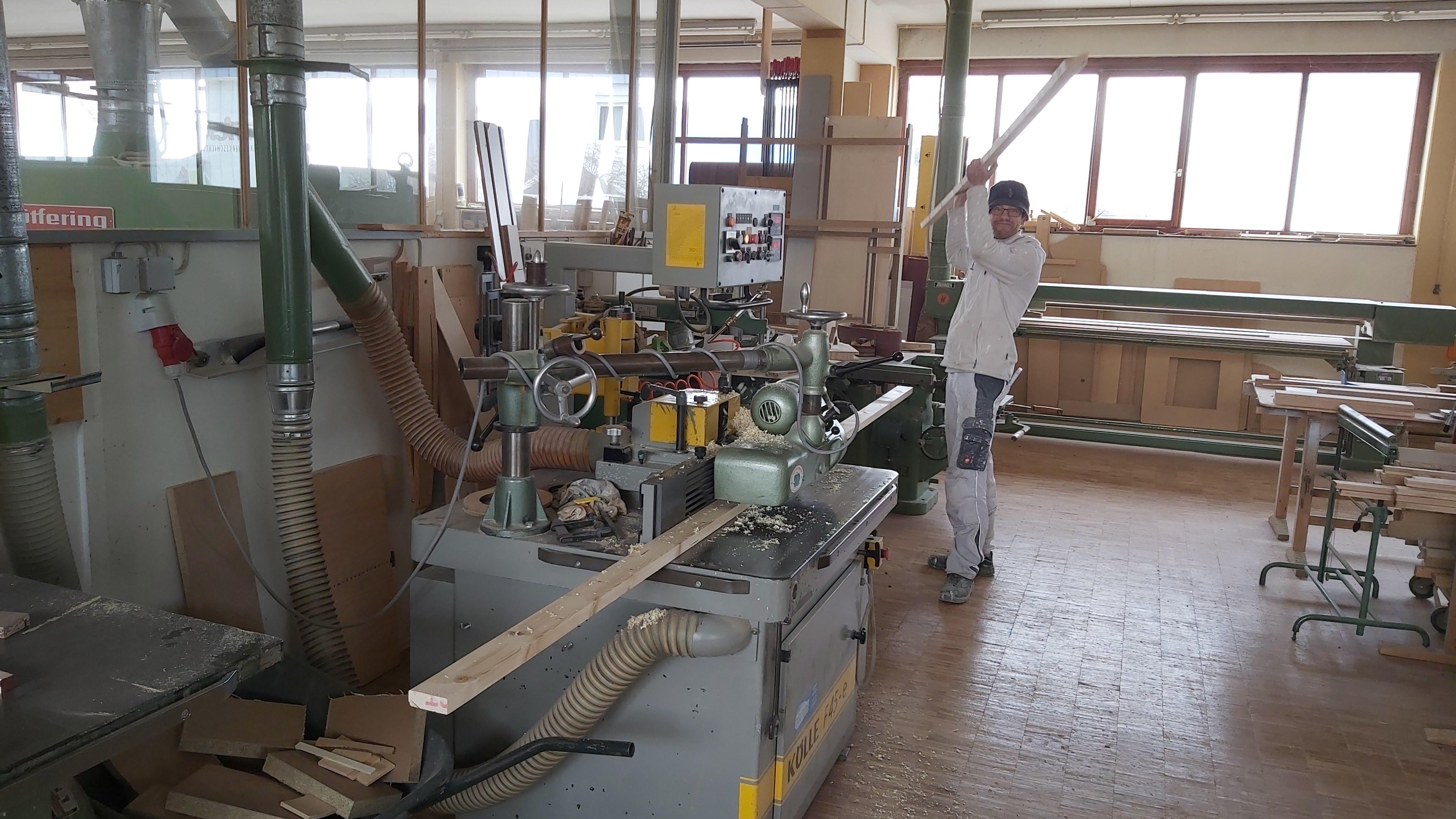 Holzarbeiten bei Firma Zech
