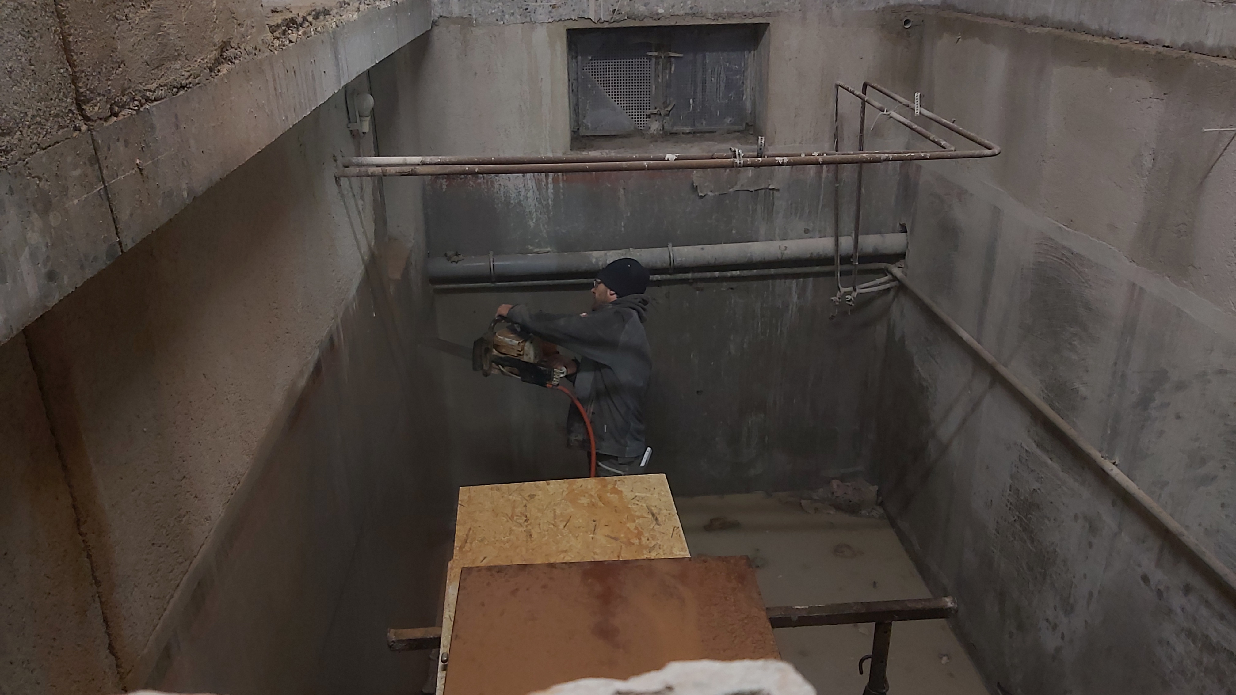 Vorbereitung für Betonboden