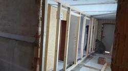 Wand für neuen Gang WCs
