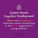 Zumbini Benefit - Cognitive Development.