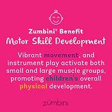 Zumbini Benefit - Motor Skill Developmen