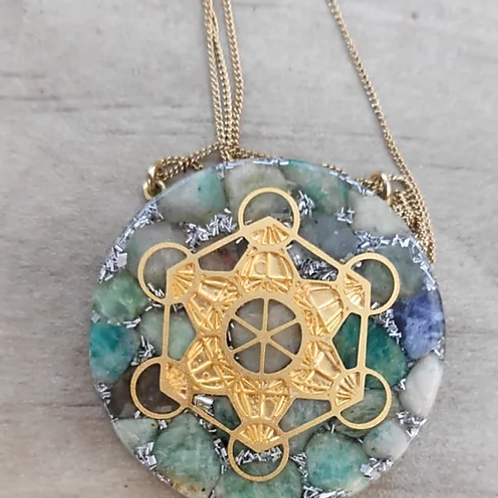 Orgonite Metatron Cube Necklace