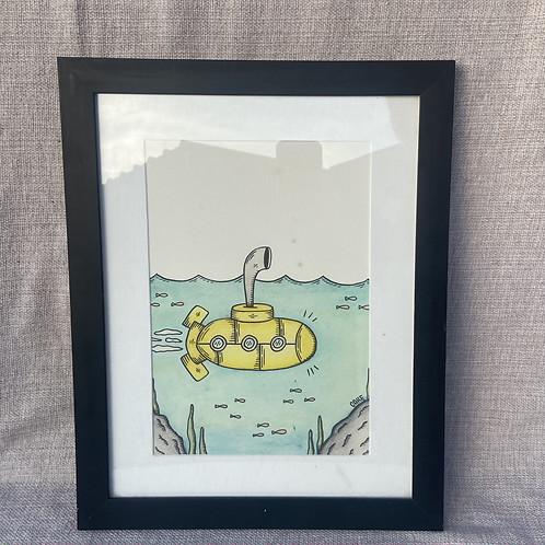 "Cuadro ""Yellow Submarine"""