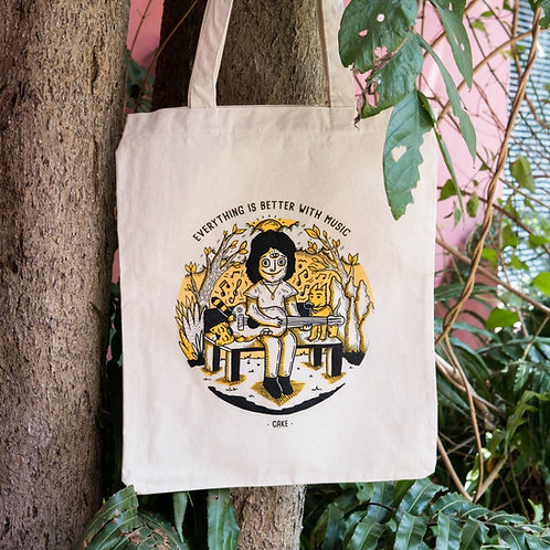 """TOTEBAG - EcoBolsa """"Everything is better with music"""""""