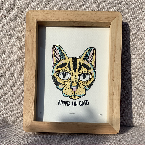 """Cuadro """"Adopta un Gato"""""""