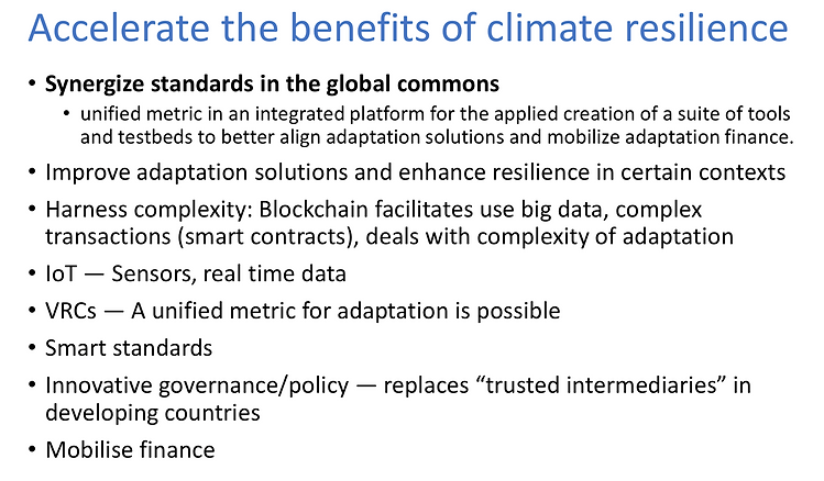 Accelerate benefits of climate resilienc