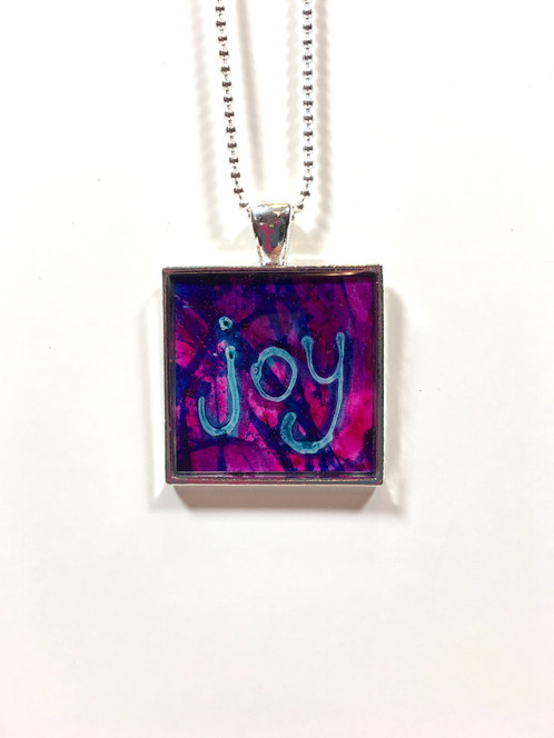 Joy pendant purple wildpoppystudios joy pendant purple aloadofball Gallery
