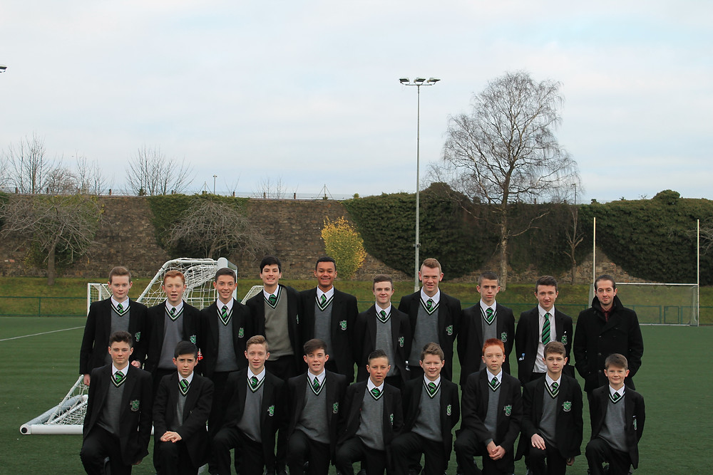 Year 10 Soccer Squad, 2015 with Coach (and Head of Year) Mr McGuiness )