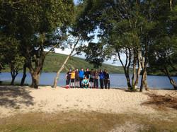 The gang at Lough Dan.