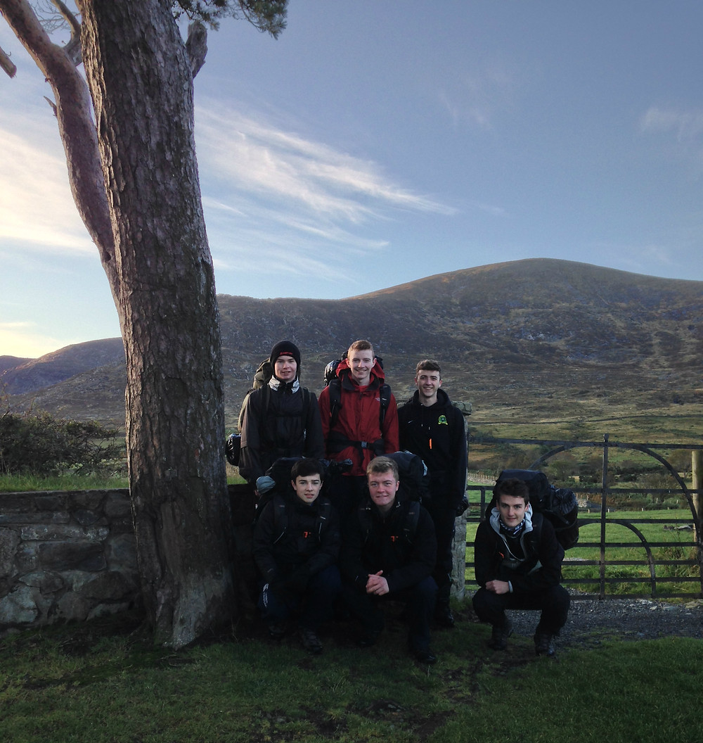 Gold Group at base camp in the Mourne Mountains.jpg