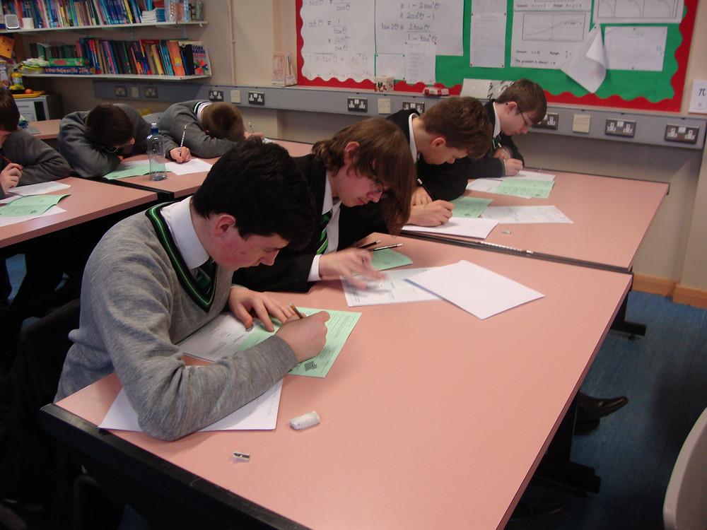 GCSE Mathematicians take the UKMT Challenge.JPG