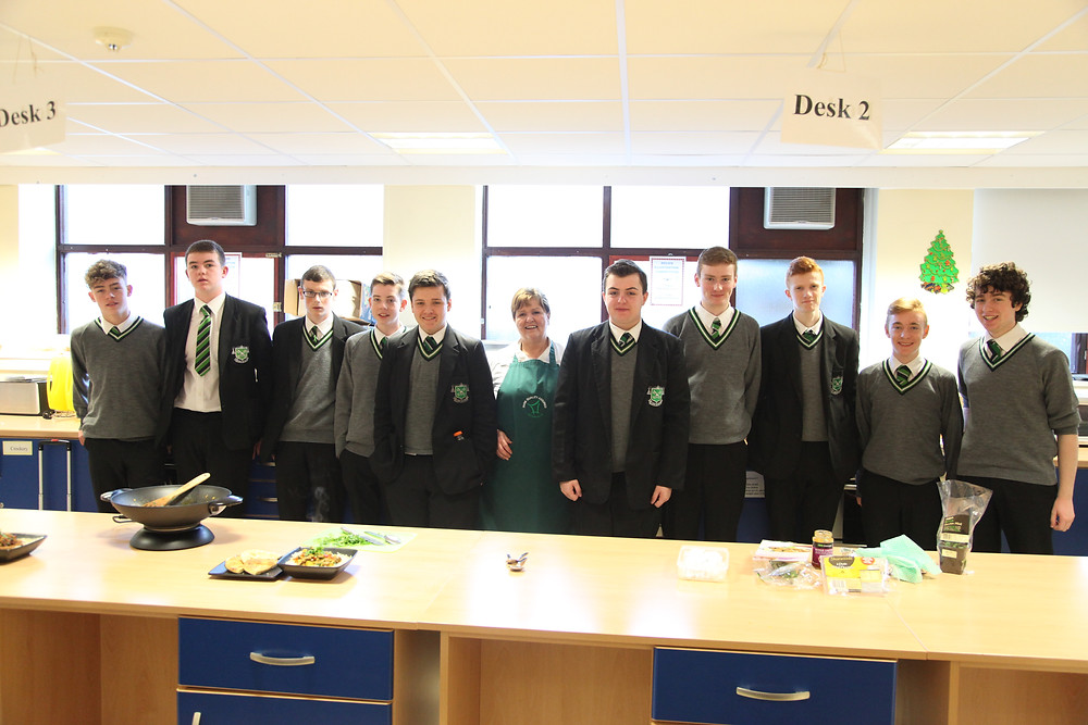 Year 11 and 12 Home Economics Students at the LMC demonstration.JPG