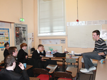 Rising Star (and former past pupil) Rhys Dunlop talks to A Level Drama students