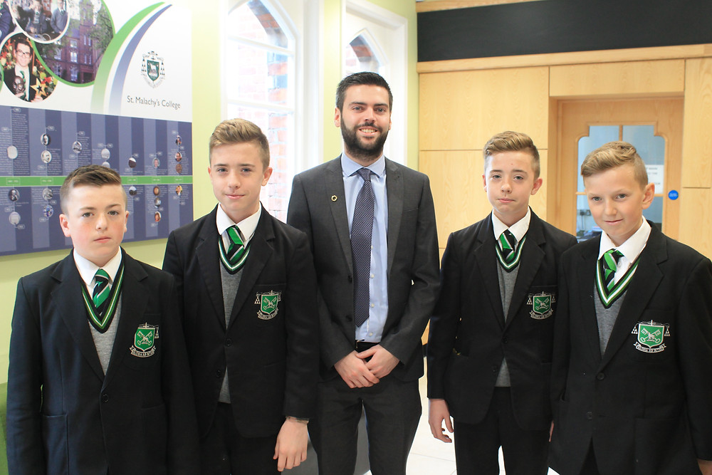 Mr_O'Neill_with_Míceál_Duffy_Year_(9B),_Kieran_Trainor-O'Neill_(9B),_Eoin_Traino
