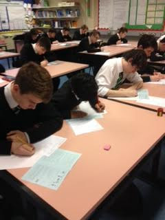 Senior students take part in the UKMT Maths Challenge 2014.