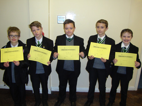 Year 8 Man of the Month for October