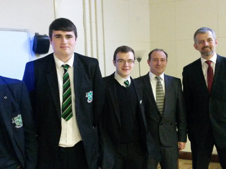 Head of Tax at KPMG, Belfast, visits the College to address A Level Business Students