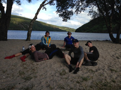 Chilling after a long day in the Wicklow hills.