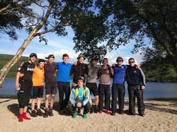 Campsite at Lough Dan.