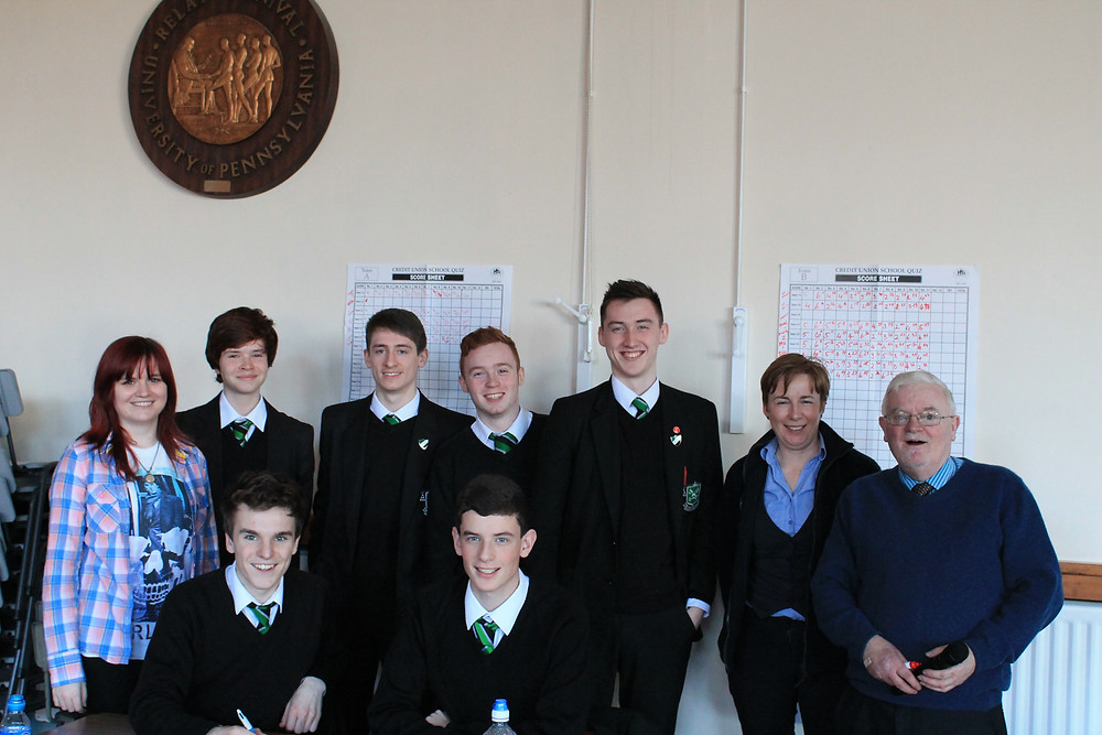 Mr Devenny and his team with Year 14 Prefects.JPG