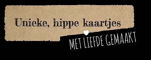 HDS kraft tekst unieke hippe kaartjes