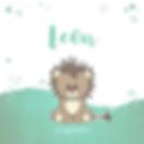 Lief stoer geboortekaartje met een leeuw