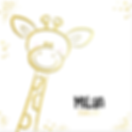 Hip geboortekaartje met giraffe goudfoli