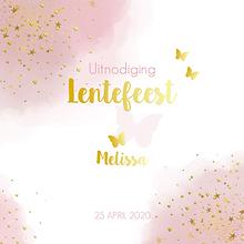 Luxe uitnodiging lentefeest waterverf ha