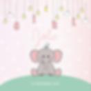 Schattig roze geboortekaartje voor een m