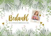 Trendy bedank kaart communie_ lentefeest