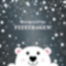 Kerstkaart met schattige ijsbeer _ Heidy