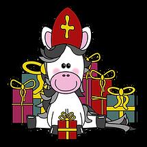 Sinterklaas-paard met cadeaus